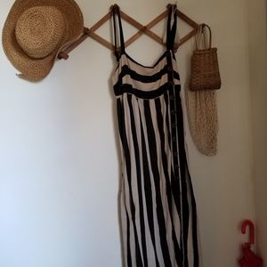 Urban outfitters striped maxi dress